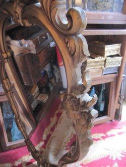 画像4: 特大◆非対称!70's アメリカアンティークミラー 鏡*欧州Antique50'sディスプレイ