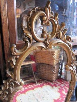 画像2: 特大◆非対称!70's アメリカアンティークミラー 鏡*欧州Antique50'sディスプレイ