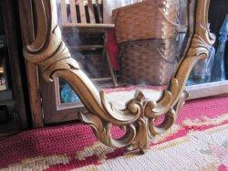 画像3: 特大◆非対称!70's アメリカアンティークミラー 鏡*欧州Antique50'sディスプレイ