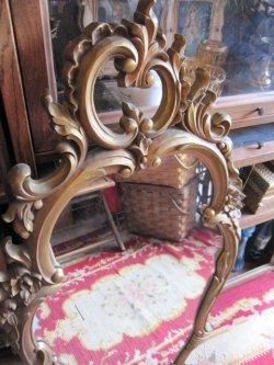 画像5: 特大◆非対称!70's アメリカアンティークミラー 鏡*欧州Antique50'sディスプレイ