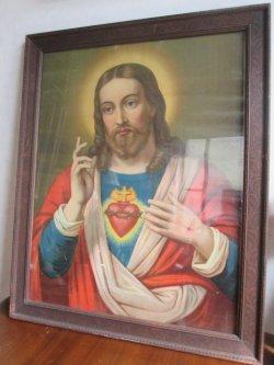 画像1: ◆1900年代〜ドイツ製キリスト様 アンティーク壁掛け*マリア カトリック宗教